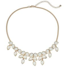 Mudd® Teardrop Cluster Necklace ($18) ❤ liked on Polyvore featuring jewelry, necklaces, ovrfl oth, mint jewelry, mint green jewelry, teardrop jewelry, gold tone necklace and cluster necklace