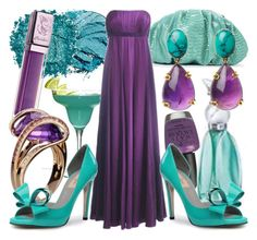 """turquoise & amethyst"" by manicurelover ❤ liked on Polyvore"
