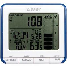 Picture of La Crosse Technology Digital Rain Gauge With Outdoor Temperature Sensor
