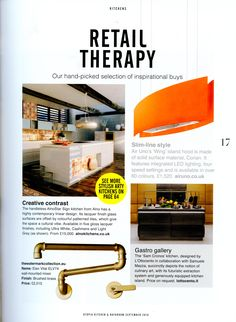 Elan Vital ELV74 wall-mounted mixer. http://www.thewatermarkcollection.eu/ Utopia Kitchen & Bathroom September 2016