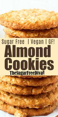 Sugar Free Cookie Recipes, Sugar Free Deserts, Sugar Free Baking, Sugar Free Cookies, Delicious Cookie Recipes, Sugar Cookies Recipe, Gluten Free Baking, Gluten Free Desserts, Sliced Sugar Cookie Recipe