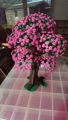 Lego Ideen LEGO Cherry Blossom Trees Book Your Photos and Leave Memories to Your Children We are at your service with the option to book every photo f. Cherry Blossom Tree, Blossom Trees, Lego Design, Legos, Lego Disney, Lego Poster, Lego Flower, Lego Hacks, Lego Tree