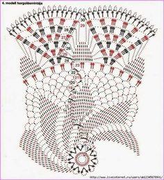 Page 3 of 3 Pair of Doilies Crochet Doily Diagram, Crochet Edging Patterns, Crochet Mandala Pattern, Crochet Art, Crochet Home, Thread Crochet, Filet Crochet, Spiral Pattern, Crochet Dollies