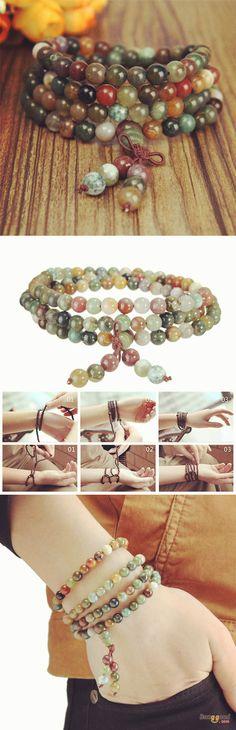 US$7.03+Free shipping. Material: Beads. Love style! Women's Jewelry, Jewelry Making, Women's Fashion, Glass Beads Bracelet.