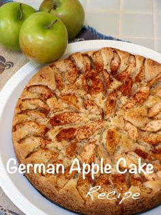 This is a recipe for a traditional German Apple Cake.  It is simple to make and delicious! Easy to follow instructions and photos are provided.