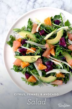 A healthy recipe good for any day: Citrus, Fennel and Avocado Salad #dishoftheday