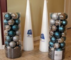 Starter home to Dream home: The Possibilities of Ornament Balls---Christmas trees Noel Christmas, Winter Christmas, All Things Christmas, Christmas Wreaths, Christmas Ornaments, Simple Christmas, Christmas Projects, Holiday Crafts, Holiday Fun