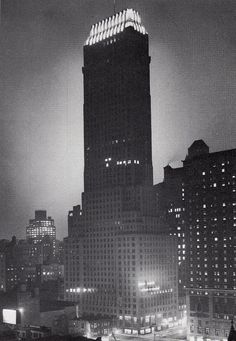 """Channin Building NYC 1929. """"The city was bloated, gutted, stupid with cake and circuses, and a new expression 'Oh yeah?' summed up all the enthusiasm evoked by the announcement of the last super-skyscrapers."""" (F. Scott Fitzgerald's My Lost City)"""