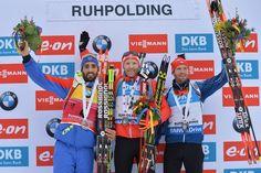 Michal Šlesingr, Simon Eder a Martin Fourcade na SP v Ruhpoldingu. | na serveru Lidovky.cz | aktuální zprávy