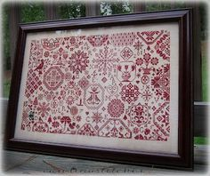 Quaker Christmas by Days Gone By again stitched by Carolina Stitcher. | REPINNED - really love this design!