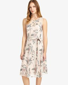 Phase Eight Prudence Embroidered Dress Pink