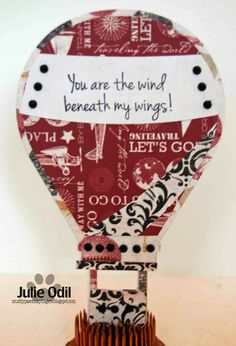 Muddy Paws & Inky Fingers, uses the hot air balloon shaped card cutting file from The Cutting Cafe