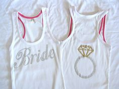 BRIDE Tank Top Shirt with Ring - super cute!