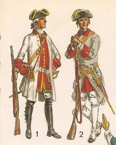 MILITARY MINIATURES by Alfons Canovas: THE COLONIAL AMERICA - Soldiers, Indians and settlers, Liliane and Fred source = Funcken.