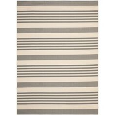 Safavieh Grey/ Bone Indoor Outdoor Rug   Overstock.com Shopping - The Best Deals on 7x9 - 10x14 Rugs