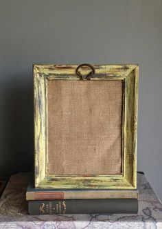 Picture Frame UpCycled Wood Painted Distressed by PippinPost, $25.00