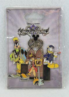 Disney Kingdom Hearts Goofy Sora Donald Throne Pin HTF MOC RARE Squareonix