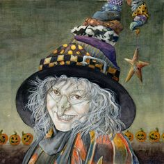 Water colour illustration,by Melissa Mary Duncan. A witch or maybe just a wannabe witch, I leave that for you to decide. ;)