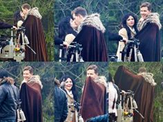 Awww, <3 Josh & Ginny on the set of OUAT, November 26, 2013