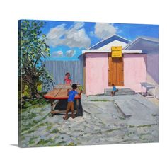 'Ping Pong De African Queen Hideaway Barbados' by Andrew Macara Painting on Canvas | Wayfair