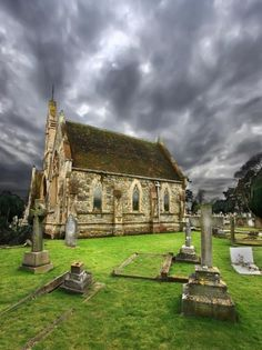 The Chapel of Bell Road Cemetery in Sittingbourne, Kent.