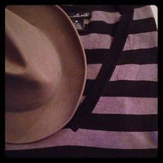 52% Silk Grey/Black Stripe V Neck Sweater Perfect over skinny jeans/leggings. Nice fine knit. Willi Smith Sweaters V-Necks
