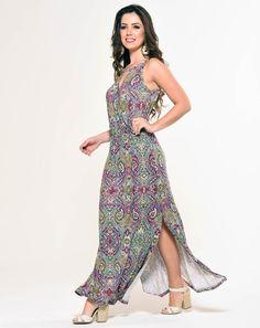 look vestido de viscose longo - Pesquisa Google