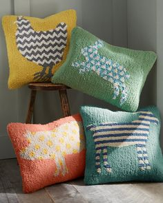 Buy decorative pillow covers at Garnet Hill. Find decorative pillow covers that match our bedding or throw pillow covers to accent your sofa on their own. Farm Animal Nursery, Farm Nursery, Farm Animal Quilt, Decorative Pillow Covers, Throw Pillow Covers, Throw Pillows, Cushion Covers, Wool Pillows, Wool Rugs
