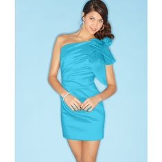 Jump Dress, Sleeveless Ruched Ruffled One Shoulder found on Polyvore