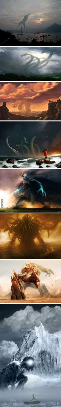 When The Old Gods Return. pour représenter les plus grand dragons (on oublie le c'thulu hein)