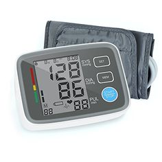 Red Medical Upper Arm Blood Pressure Monitor Automatic Digital Blood Pressure Cuff Machine One Size Fits All Cuff Easy to Read and Calculation Accuracy  FDA Approved *** Want to know more, click on the image.