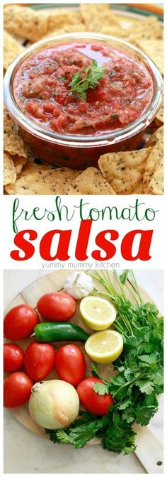 Find out how to make salsa with fresh tomatoes. This easy salsa recipe is made in the blender and perfect for dipping or taco night.