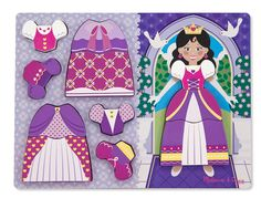Melissa & Doug Wooden Chunky Puzzles Princess Dress Up Puzzle Wooden Toddler Mix and Match Jigsaw Toys. Buy Quality Toddler Toys From Green Ant Toys Online Toy Shop. 2nd Birthday Gifts, Online Toy Stores, Rainbow Resource, Princess Dress Up, Presents For Her, Melissa & Doug, Cute Skirts, Classic Toys, Toddler Preschool