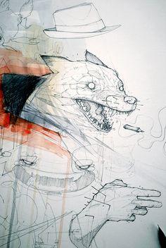illustrations 2014 - part 02 by Monsta, via Behance