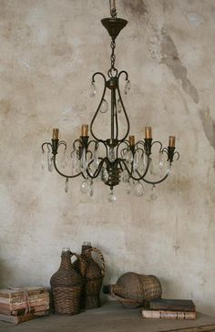 over the dining table Wall Finishes, Vintage Chandelier, Rustic Elegance, Led Flashlight, Vintage Decor, Custom Homes, Light Up, Building A House, Dining Table