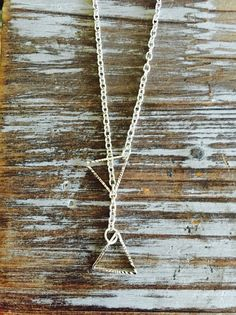 FREE SHIPPING Oxidized Silver Lariat Necklace Double by SAjolie