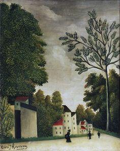Henri Rousseau - A Village Street [1909-10] | Flickr - Photo Sharing!