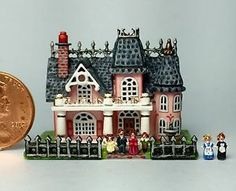 OOAK Miniature Dollhouse Victorian Mansion Tiny Dolls House Artisan Handcrafted