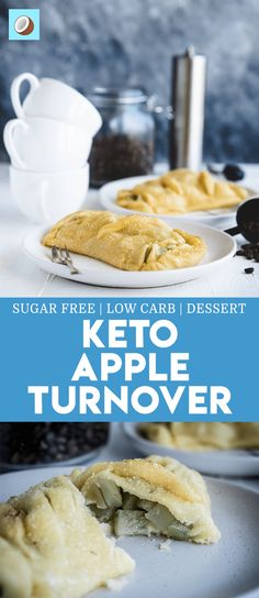 Keto Apple Turnover – Keto Apple Desserts For Fall Keto Apple Turnover is a take on the original baked good, but instead of using apples, I've created the same taste using Chayote (Or Choko). via FatForWeightLoss Keto Friendly Desserts, Low Carb Desserts, Low Carb Recipes, Apple Desserts, Holiday Desserts, Keto Apple Recipes, Fall Recipes, Soup Recipes, Low Carb Breakfast