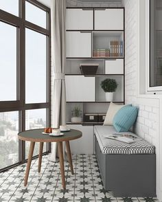 Inspiration for small apartment balconies in the city., Inspiration for small apartment balconies in the city - Page 33 of 43 Interior Balcony, Apartment Balcony Decorating, Apartment Balconies, Balcony Design, Apartment Design, Interior Design Living Room, Small Apartments, Small Spaces, Sweet Home