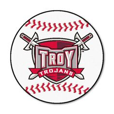 Troy State Trojans NCAA Baseball Round Floor Mat (29)