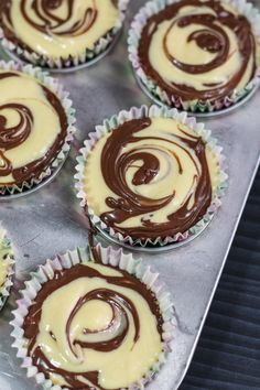 You can obviously pipe some frosting over these Nutella Swirl Cupcakes, but these are already delicious and decadent on their own. Why mess with perfection? Nutella Muffins, Nutella Cupcakes, Swirl Cupcakes, Cheesecake Cupcakes, Chocolate Cookie Dough, Chocolate Swirl, Salted Chocolate, Cupcake Recipes, Cookie Recipes