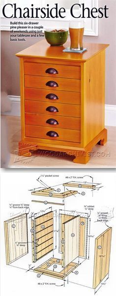 Chairside Chest Plans - Furniture Plans and Projects | WoodArchivist.com                                                                                                                                                                                 More
