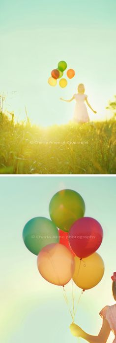 I want to use these color balloons to decorate with throughout.