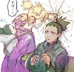 shikamaru you dare to smoke in front of your son???!! -temari