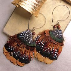feather earrings - Google Search