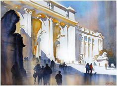 new york public library thomas w schaller watercolor