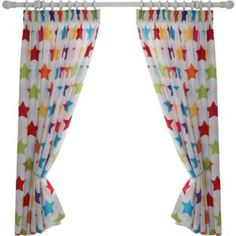 Buy Colour Match Kids' Star Curtains - 168 x 137cm at Argos.co.uk - Your Online Shop for Curtains.