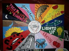 Fine Line songs canvas painting Simple Canvas Paintings, Small Canvas Art, Mini Canvas Art, Pop Art Drawing, Painting & Drawing, Art Drawings, Painting Styles, Desenhos One Direction, Harry Styles Drawing