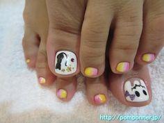 ハロウィンを取り入れたフットネイル #halloween #nail #nails #フットネイル